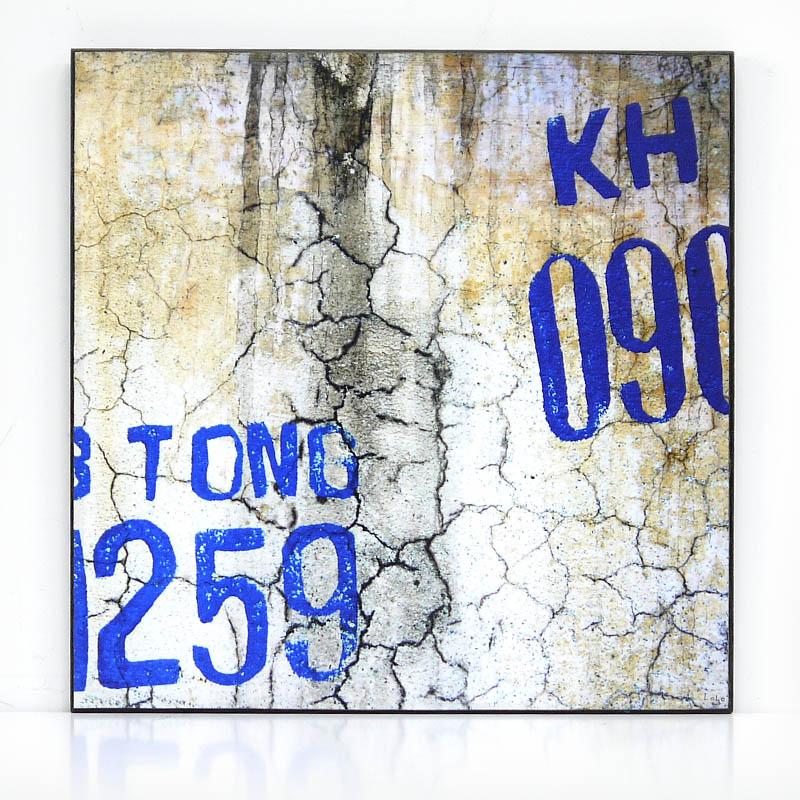 【KH CAT B TONG】木製アートパネルK モダンアート壁掛け ベトナム雑貨 インテリア 壁飾り