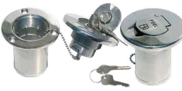 鍵付き ガスキャップ 燃料注入口 注油口 デッキフィル 燃料口  鍵付 50mmホース用