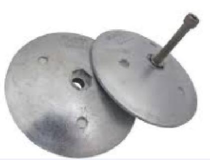 オンラインショッピング ラダー亜鉛 ラダーアノード トリムタブ亜鉛 新品■送料無料■ 2枚一組 75mm トリムタブアノード