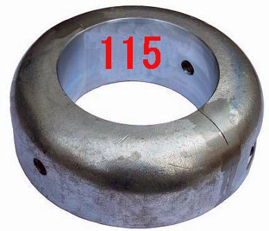 シャフト亜鉛 割型115mm プロペラ亜鉛