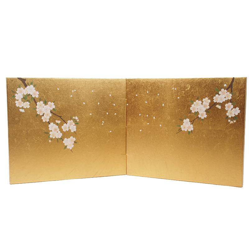 屏風 9号和紙入り金沢枝桜二曲包み込み屏風 かわいい雛道具 和小物 ディスプレイ 単品販売 雛飾り 和風 インテリア