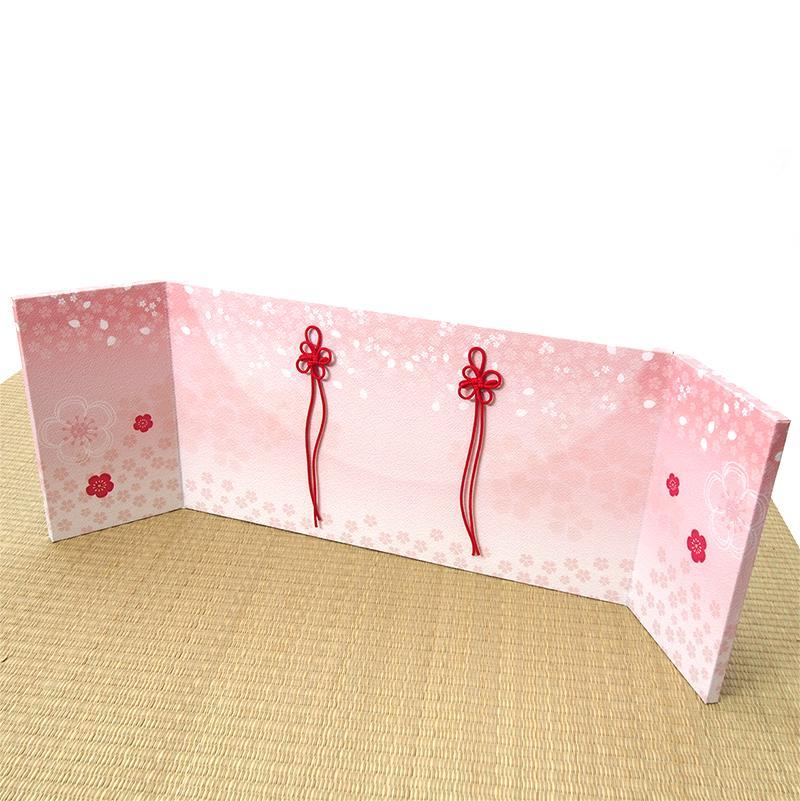 屏風 ちりめん三曲屏風「舞花」 かわいい雛道具 和小物 ディスプレイ 単品販売 雛飾り 和風 インテリア
