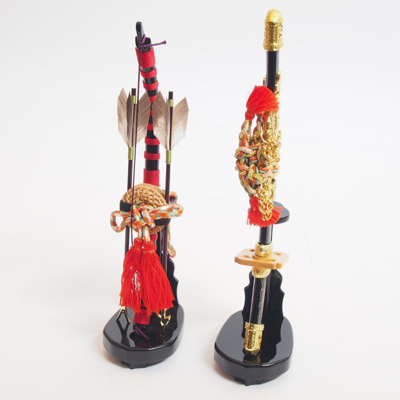 五月人形 兜飾りのお道具【弓太刀セット 光源8号】小道具 単品販売 端午のお節句 飾り