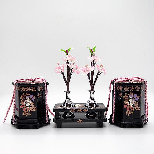三葉-25号六角貝桶三宝桜づくし かわいい雛道具 和小物 ディスプレイ 単品販売 雛飾り 和風 インテリア