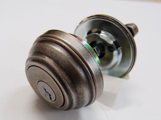 アメリカ製・本締り錠(サムターン付)マットシルバー