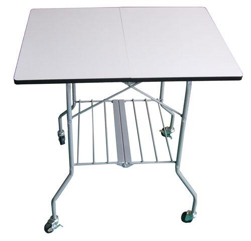 【P2倍★クーポン有】業務用 折畳テーブル キャスター付 作業用 折り畳み 簡易テーブル 受付