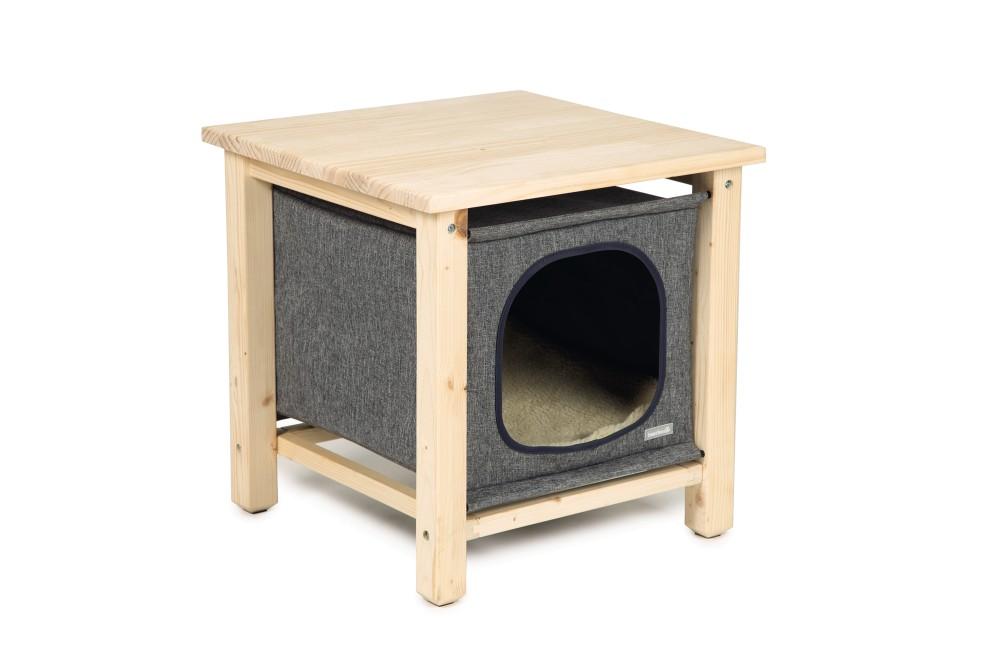 【オランダBEEZTEES】キャットタワー 木製 据え置き オランダ BEEZTEES  ウッドキャットホームPitoux【猫ハウス キャットハウス 保護猫】