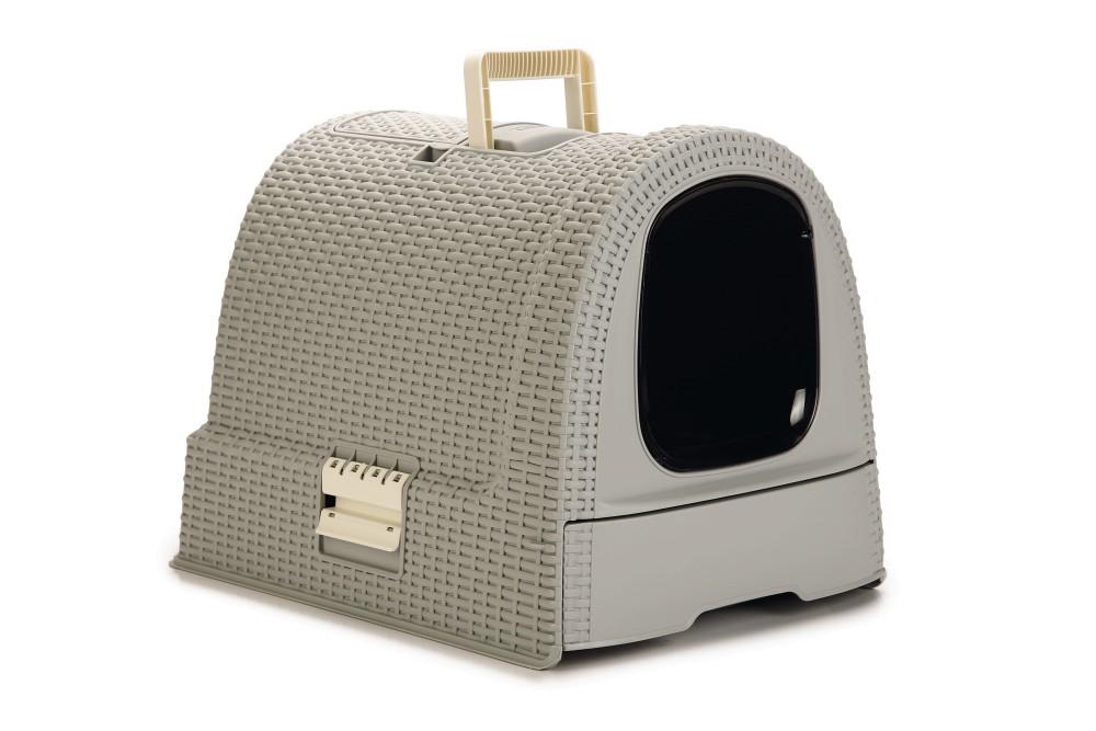 生活用品で世界中で有名なCURVERからペット用品が登場 Curver Pet Life Style カーバーペットライフ グレー キャットリッターボックスキャットトイレ 引き出し 公式ストア 『4年保証』 フィルター付きネコトイレ スコップ