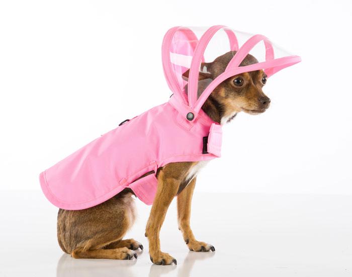 【PushPushi】アメリカのセレブ御用達のおしゃれなドッグレインコート新登場!PushPushiレインボーラインドッグレインコート ピンク XSサイズ【おでかけ お散歩 ドライブ 旅行 アウトドア 雨】