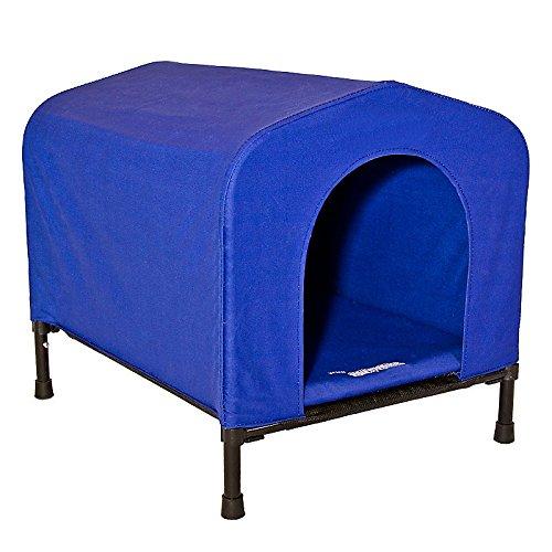 【アメリカHeininger】室内でも室外でもお使いいただけるペット用ハンモックドッグハウス!アメリカハイニンジャー ポータブルペットハウンドハウスXLブルー【お散歩 ドライブ アウトドア お出かけ プール 介護 ステップ】