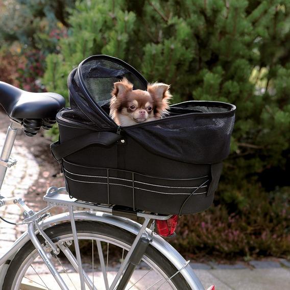 ※再入荷しました※【ドイツTRIXIE】アウトドアにも!高齢犬のお散歩にも!自転車に取り付けるキャリーバッグ!新発売!ドイツTRIXIE バスケットバイシクルキャリーバッグ ブラック【キャリーバッグ ペットカート お散歩 ドライブ アウトドア お出かけ】