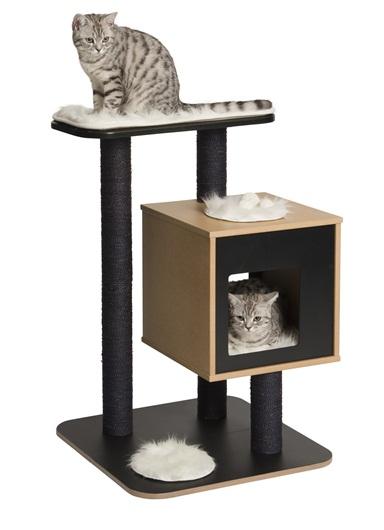 【アメリカHAGEN】魅力的な現代風設計のキャットタワーです。CATITベスパーVベースキャットタワー ブラック【キャットツリー ネコタワー 猫タワー ねこタワー ハンモック 高級 ねこカフェ 猫カフェ ネコノミクス 猫の日】