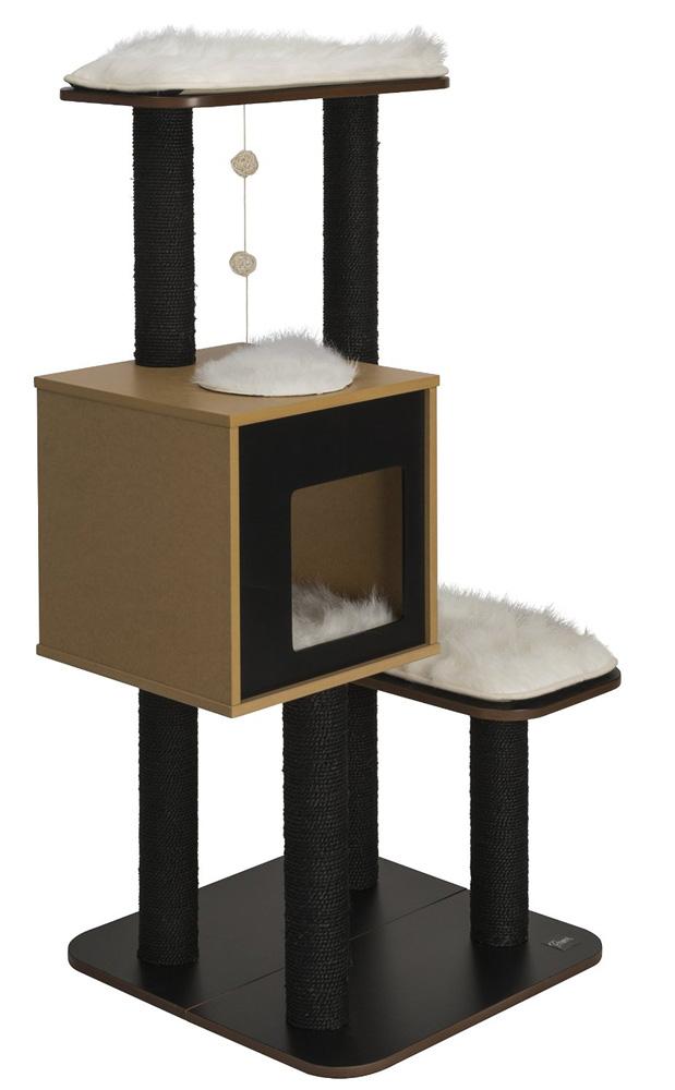 【アメリカHAGEN】魅力的な現代風設計のキャットタワーです。CATITベスパーVハイベースキャットタワー ブラック【キャットツリー ネコタワー 猫タワー ねこタワー ハンモック 高級 ねこカフェ 猫カフェ ネコノミクス 猫の日】