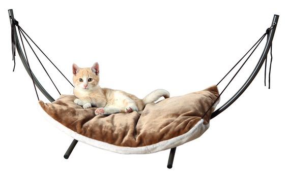 ※猫ちゃんにもハンモックを。。。【ドイツTRIXIE】大人気!ドイツTRIXIE キャットハンモック NEWキャットハンモック ブラウン×ベージュ【キャットツリー ネコタワー 猫タワー ねこタワー ハンモック 高級 ねこカフェ 猫カフェ ネコノミクス】