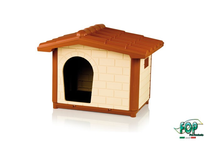 【イタリアFOP】日本初上陸!イタリアからおしゃれなドッグハウスが新登場!イタリアFOP社製プラスチックドッグハウス!プラスチックドッグハウスL【犬小屋 ドッグハウス 屋外 室内 ベッド】