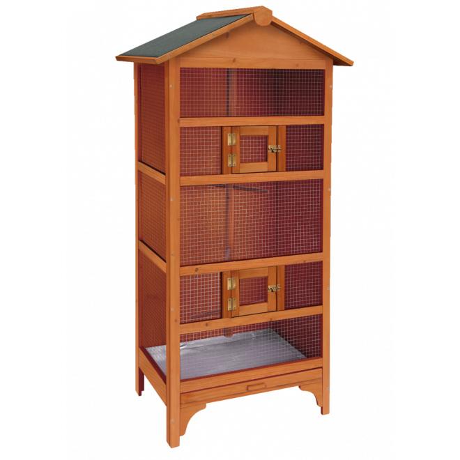 ※再入荷しました、人気の木製です※【ドイツKARLIE】鳥ちゃんなどの屋外用バードケージです!木製バードケージ ネバダ【鳥小屋 学校 幼稚園】