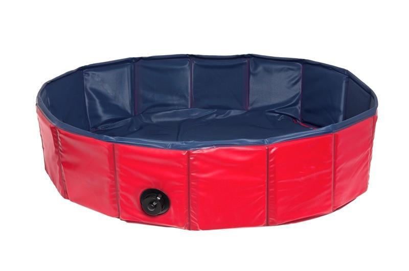 【ドイツKARLIE】犬達の爪での引っ掻きに対するテスト済みです。ドイツKARLIE Doggy Pool ドギープール サイズ120レッド【お散歩 ドライブ アウトドア お出かけ ぺたバス ドッグプール ペットプール】