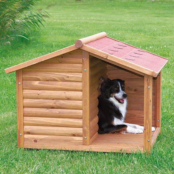 ※再入荷!【ドイツTRIXIE】新発売!屋外用犬小屋!ドイツTRIXIE ナチュラドッグケンネルサドルルーフ ブラウン M【大型犬 犬小屋 ハウス お出かけ】※メーカー外装箱リニューアルのためサイズ表記がSとなっております場合もあります。
