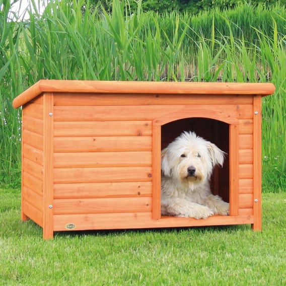 ※再入荷です【ドイツTRIXIE】新発売!屋外用犬小屋!ドイツTRIXIE  ナチュラドッグケンネルフラットルーフ ブラウン L【犬小屋 ハウス 屋外 ドッグハウス】