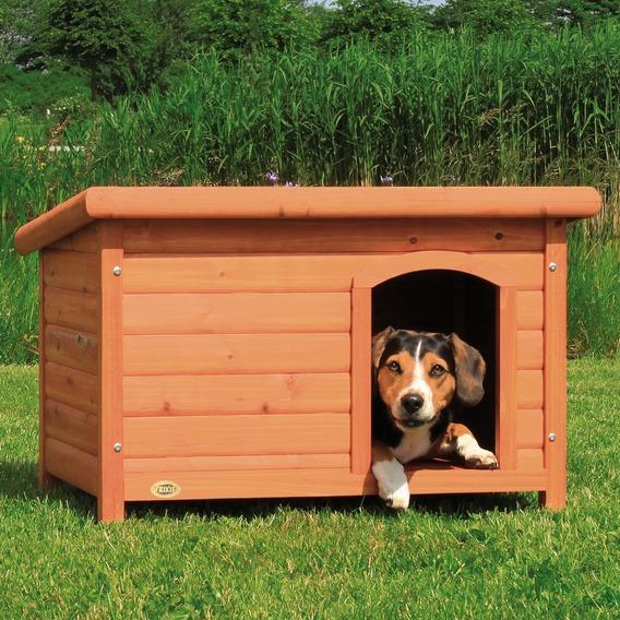 ※再入荷3月27日前後です※【ドイツTRIXIE】新発売!屋外用犬小屋!ドイツTRIXIE  ナチュラドッグケンネルフラットルーフ ブラウン M【犬小屋 ハウス 屋外 ドッグハウス】
