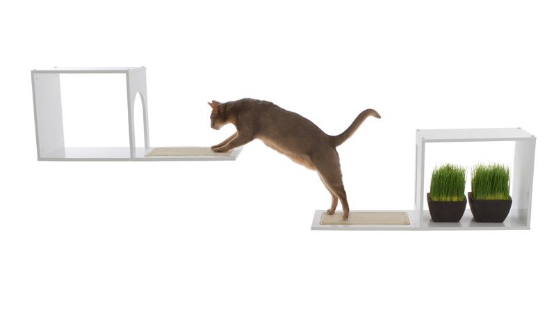 【DesignerPetProducts】デザイナーペットプロダクツ ソフィアウォールマウントキャットツリー ホワイト【キャットツリー クローゼット 猫タワー ねこタワー ハンモック 高級 ねこカフェ 猫カフェ ネコノミクス 猫の日】