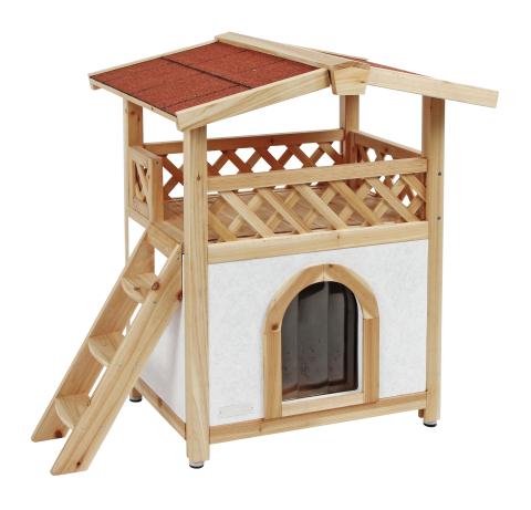 【ドイツKerbl】人気の木製2階建てキャットハウスです。ドイツKerbl社キャットタワー キャットハウス チロルアルパイン 57 x 88 cm 【キャットツリー クローゼット 猫タワー ねこタワー ハンモック 高級 ねこカフェ 猫カフェ ネコノミクス】
