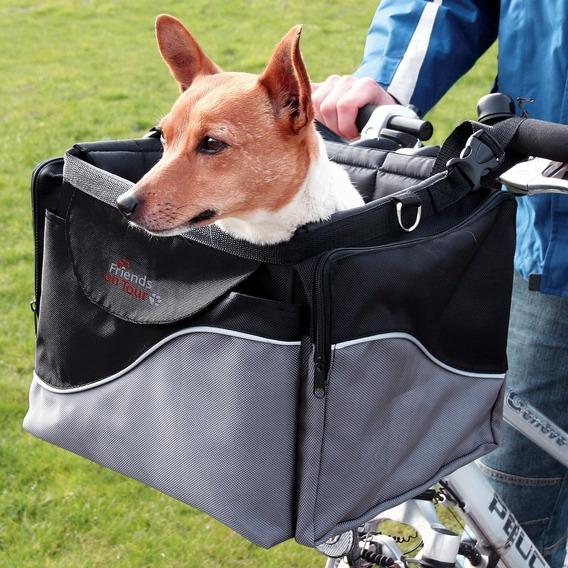 【ドイツTRIXIE】アウトドアにも!ドイツTRIXIE 自転車に取り付けるキャリーバッグ!フロントボックス Mサイズ【キャリーバッグ ペットカート お散歩 ドライブ】※6月末入荷予定