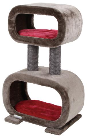 ※再入荷しました!※【ドイツKerbl】未来的なデザインの新発売のキャットタワーです。ドイツKerbl社キャットタワー ロビン grey/red【キャットタワー 爪とぎ プレイボックス ベッド ハウス ねこカフェ 猫カフェ ネコノミクス】