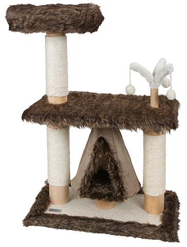 【ドイツKerbl】キャットタワーでは珍しい長毛を使用したキャットタワーです。ドイツKerbl社キャットツリー ザムンダジェイド【キャットタワー 爪とぎ プレイボックス ベッド ハウス ねこカフェ 猫カフェ ネコノミクス】