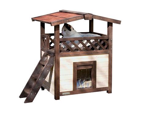 ※人気商品です※【ドイツKerbl】人気の木製2階建てキャットハウスです。ドイツKerbl社キャットタワー キャットハウス チロルアルパイン デラックス【キャットツリー クローゼット 猫タワー ねこタワー ハンモック 高級 ねこカフェ 猫カフェ ネコノミクス】