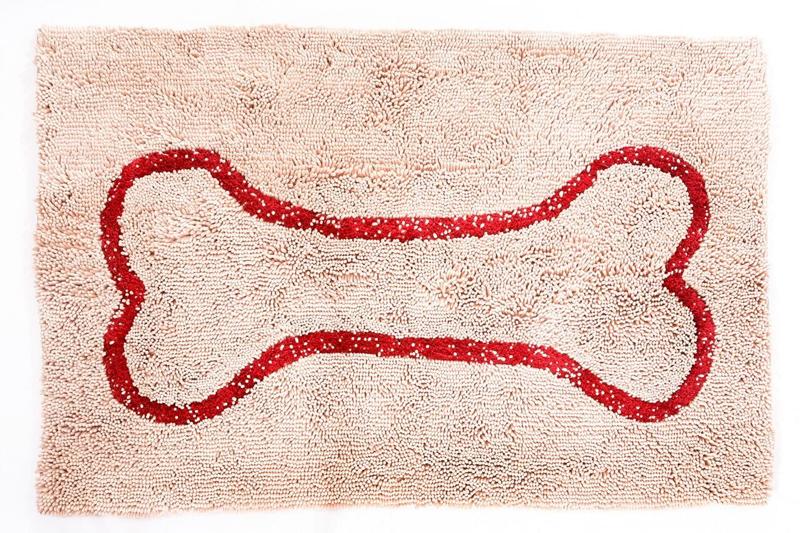 【Soggy Doggy Doormat】ソギードギードアマットXLサイズ Beige/red bone【介護 寝たきり 撥水 汚れ ナノテクノロジー】