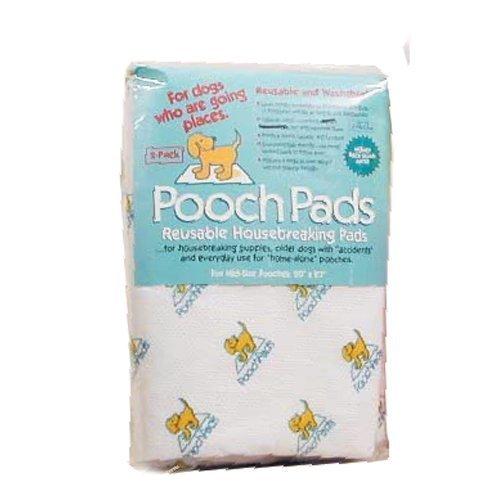 【PoochPad】子犬のトイレトレーニングや寝たきりの老犬介護時に!くりかえし洗って使えるトイレシーツ!プーチパッド Lサイズ ホワイト 2枚入り