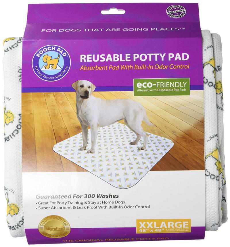 【PoochPad】子犬のトイレトレーニングや寝たきりの老犬介護時に!くりかえし洗って使えるトイレシーツ!プーチパッド XXLサイズ ホワイト