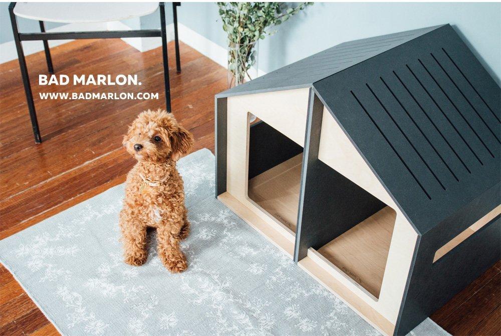 【Bad marlon】 どんなインテリアにもマッチするハンドメイドのペット用品がいっぱいです。犬小屋 Bad marlon バッドマルーン ドッグハウス ラーヴィックハウスA+B 【アウトドア 犬小屋 ドッグハウス 室内 インテリア】