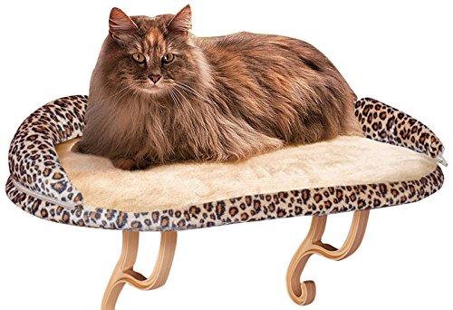【K&Hペットプロダクツ】猫窓用ベッド ウインドウベッド キティシル デラックスキャットウインドウソファーレオパード 【猫ハウス キャットハウス 保護猫】
