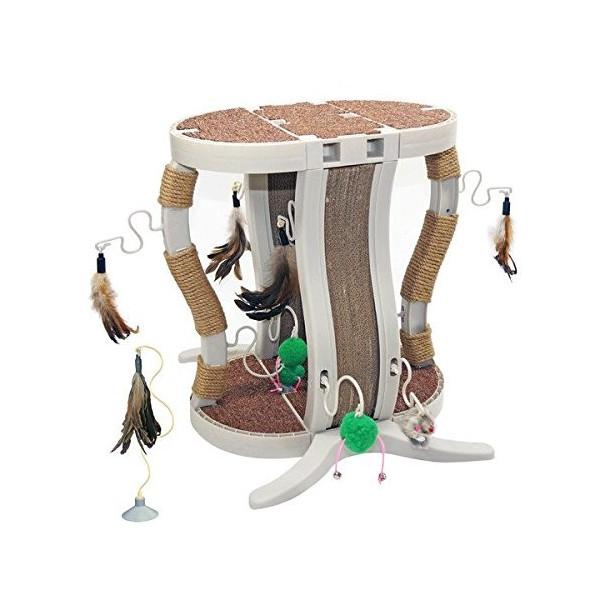 【アメリカINNOVATIONPET】Kitty Connection キャットタワー スクラッチポッドキットアイテム500-20爪 とぎ みがき