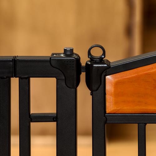 【Carlson】特許が取られたペット・ドアがついたゲート!新発売!カールソン デザインスタジオ メタルウォークスルーゲートDesign Studio Metal WalkThru Gate carl3030 【ゲート ケージ サークル インテリア】