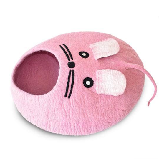 【ダルマ・ドッグ・カルマ・キャット】ダルマ・ドッグ・カルマ・キャット ウールキャットベッド マウスケイブ ピンク