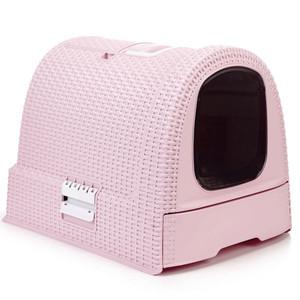生活用品で世界中で有名なCURVERからペット用品が登場 Curver Pet Life Seasonal Wrap入荷 Style セール開催中最短即日発送 カーバーペットライフ スコップ 引き出し フィルター付きネコトイレ ピンク キャットリッターボックスキャットトイレ