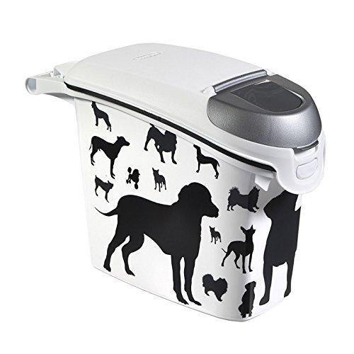 ※犬柄です!※【Curver Pet Life Style】カーバーペットライフ ドッグフードストッカー ネステイブルドッグフードコンテナシルエットDOG 15L 6kg