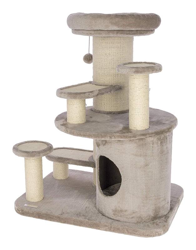 ※大きめのキャットタワーです。【ドイツKerbl】キャットタワー オールディベージュ【キャットツリー クローゼット 猫タワー ねこタワー ハンモック 高級】