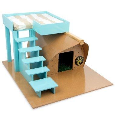 【Carlu Pet House】犬小屋 ブラジルCarlu Pet House ドッグハウス ファームラグジュアリードッグハウス ブルー 【犬小屋 ドッグハウス】
