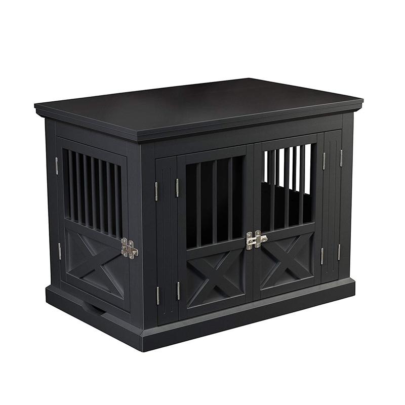 【zoovilla】犬小屋 ドッグハウス トリプルドアドッグクレートM ブラック【犬小屋 多頭飼い】