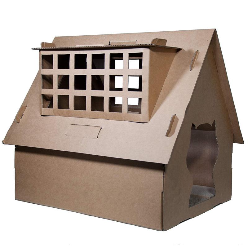 【CATOPIA】 キャットピアキャットハウス カードボードキャットハウスB  【猫ハウス キャットハウス 保護猫】