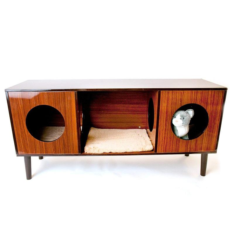 【アメリカPENNPLAX】テレビスタンドやサイドテーブルにも使える猫ちゃん用ベッド!CatWalkキャットベッド&ホームファニシングタワー