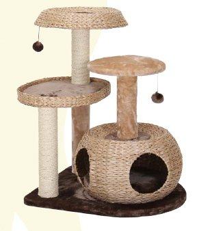 【アメリカPetPals】キャットタワー 3レベルキャットスクラッチャー Eden 【猫ハウス キャットハウス 保護猫】