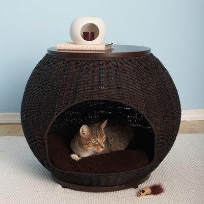 【Refined Kind】リファインドカインド美しく、スタイリッシュなラタン調のキャットベッド!イグルードッグ&キャットベッド デラックス 【クローゼット ねこタワー ハンモック ねこカフェ 猫カフェ ネコノミクス 猫の日】