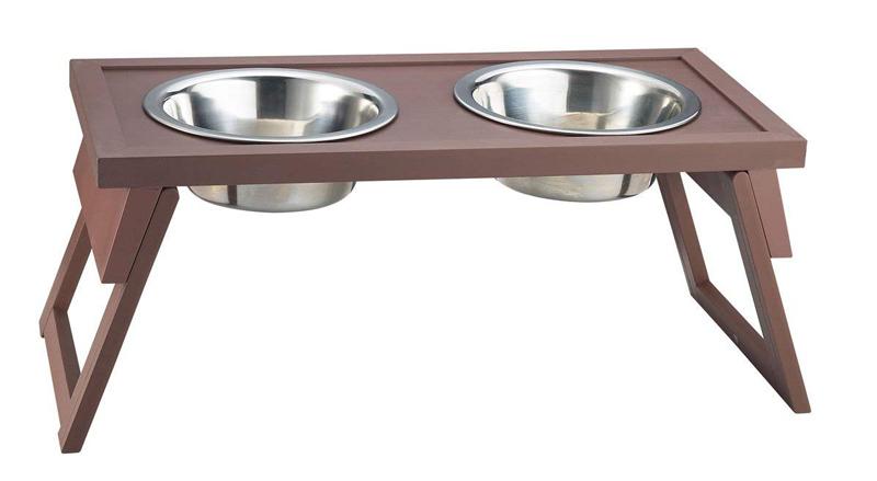 【アメリカNew Age Pet】ニューエイジペット ecoFLEX シリーズ高さが調節できるフードボウル ハイローアジャスタブルダブルダイナーL ラシット