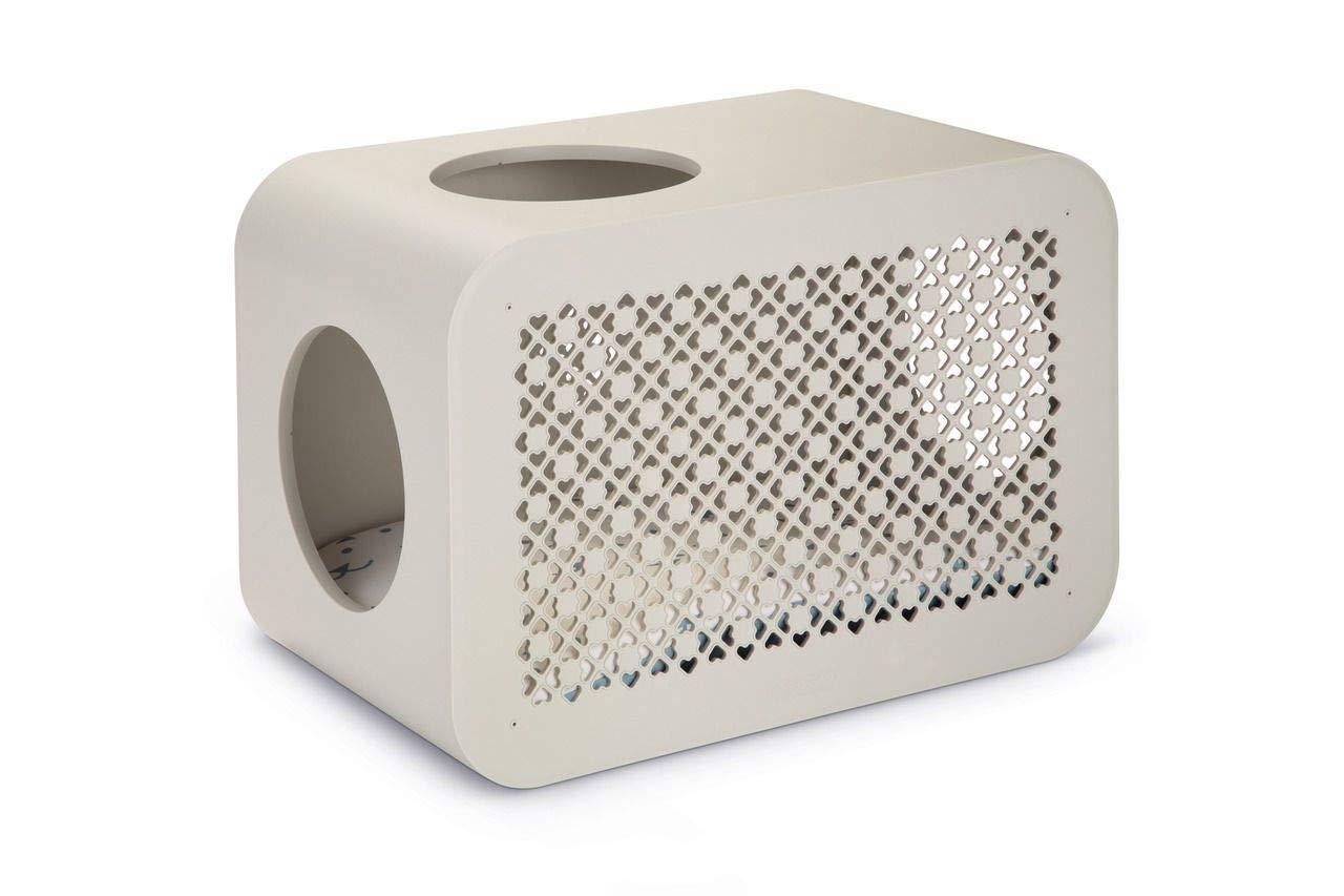 【オランダBEEZTEES】 自分の好きなパーツを組み合わせて作るキューブタワー キャットキューブ スリープ グレー 【猫ハウス キャットハウス 保護猫】