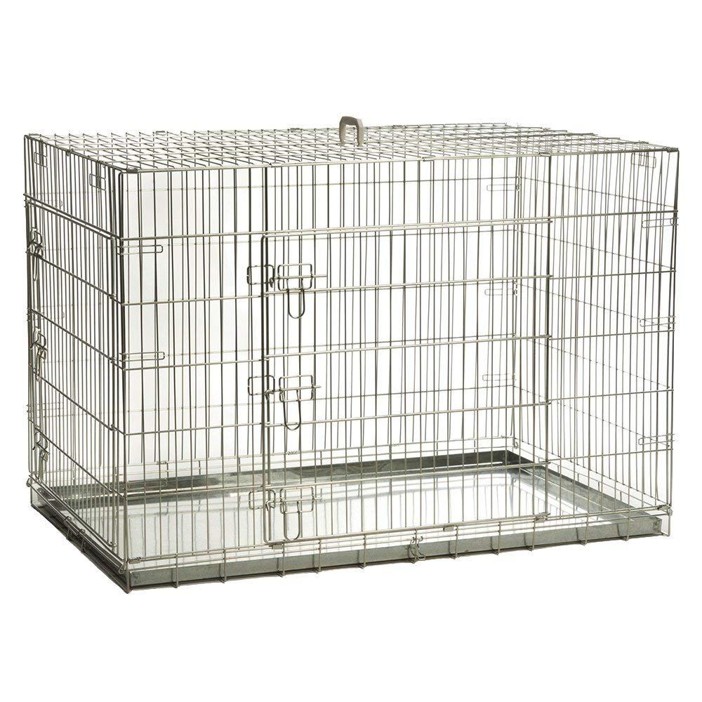 【オランダBEEZTEES】 ペットケージ 3スライドロックドアドッグケンネルケージ121 x 78 x 84 cm 【猫ハウス キャットハウス 保護猫】